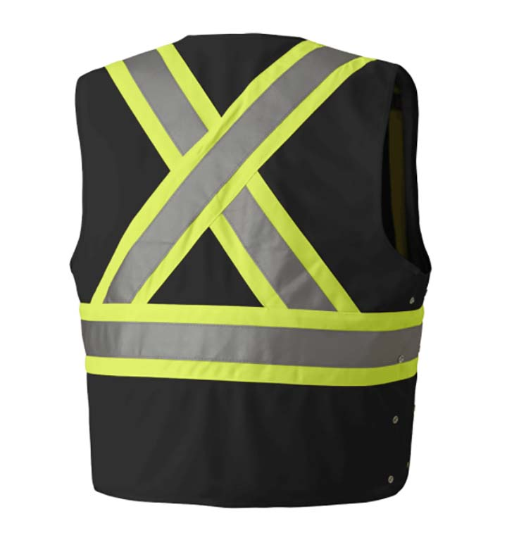 Pioneer Tricot Poly Interlock Adj. Sides Safety Vest #P13