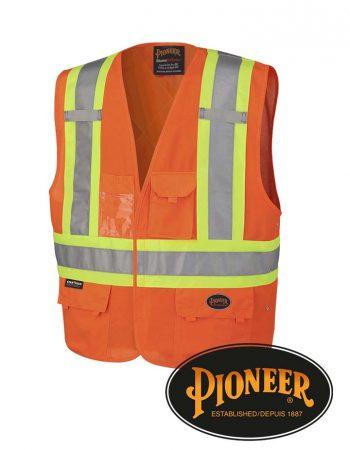 Pioneer Tricot Poly Interlock Adj. Sides Safety Vest #13-4-5