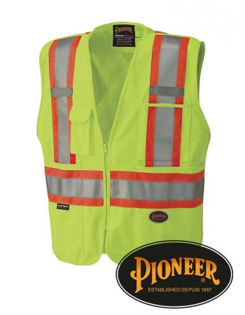 Pioneer Mesh Back Zip-Up Safety Vest #693-5-6-7