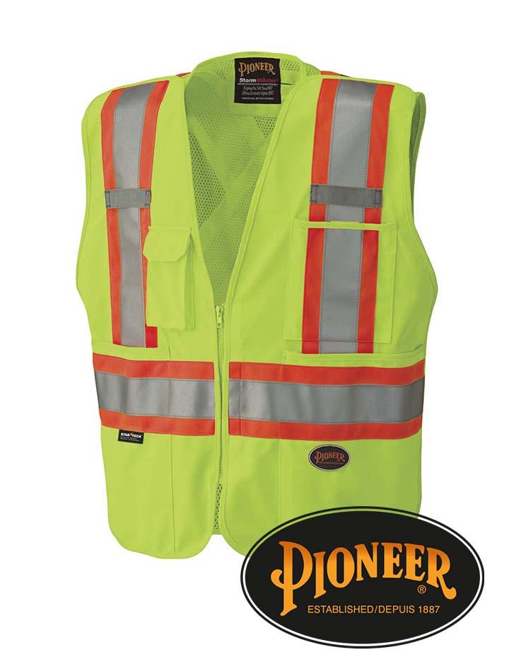 Pioneer Mesh Back Zip-Up Safety Vest #693-5-6-7