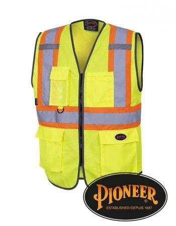 Pioneer Hi-Vis Zip Front Safety Vest #P695
