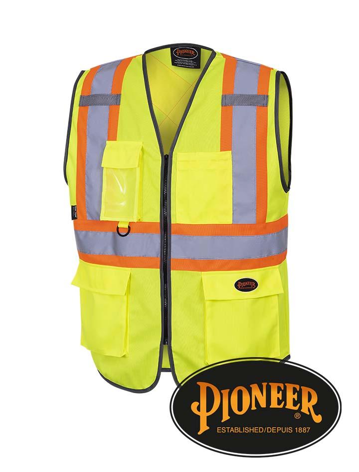Pioneer Hi-Vis Zip Front Safety Vest #695-8-9
