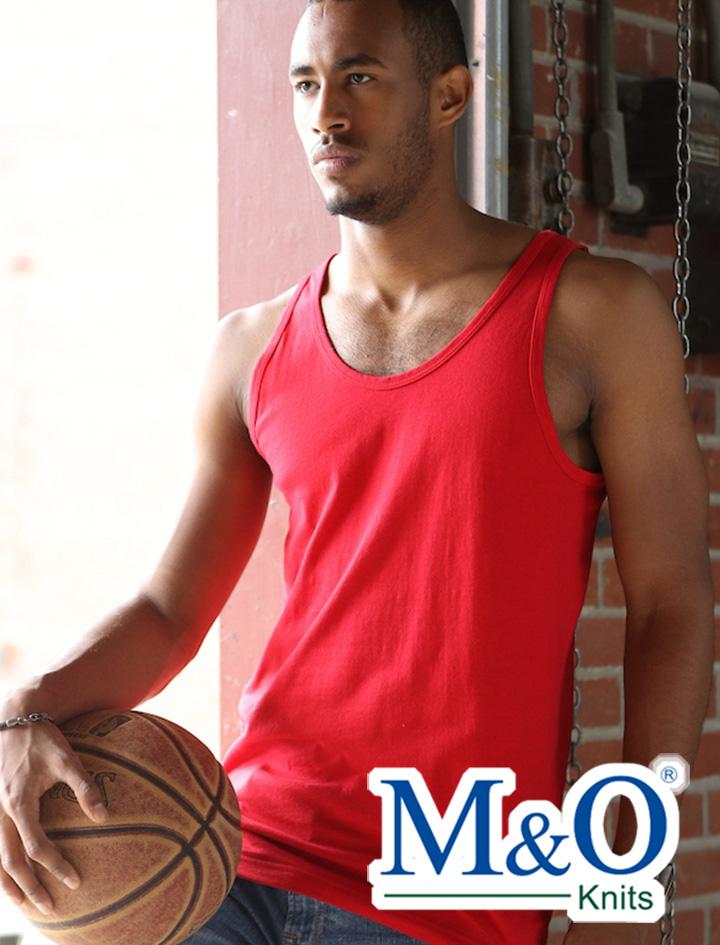 M&O Ringspun Tank Top #4505