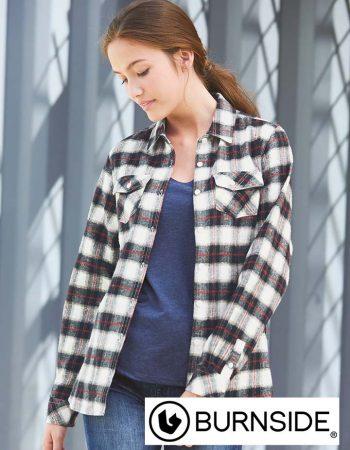 Burnside Ladies Yarn-Dyed Long Sleeve Flannel Shirt #5210