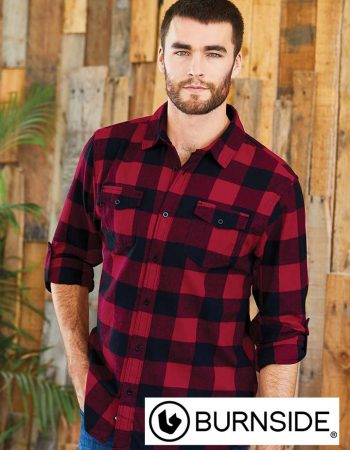 Burnside Yarn-Dyed Long Sleeve Flannel Shirt #8210