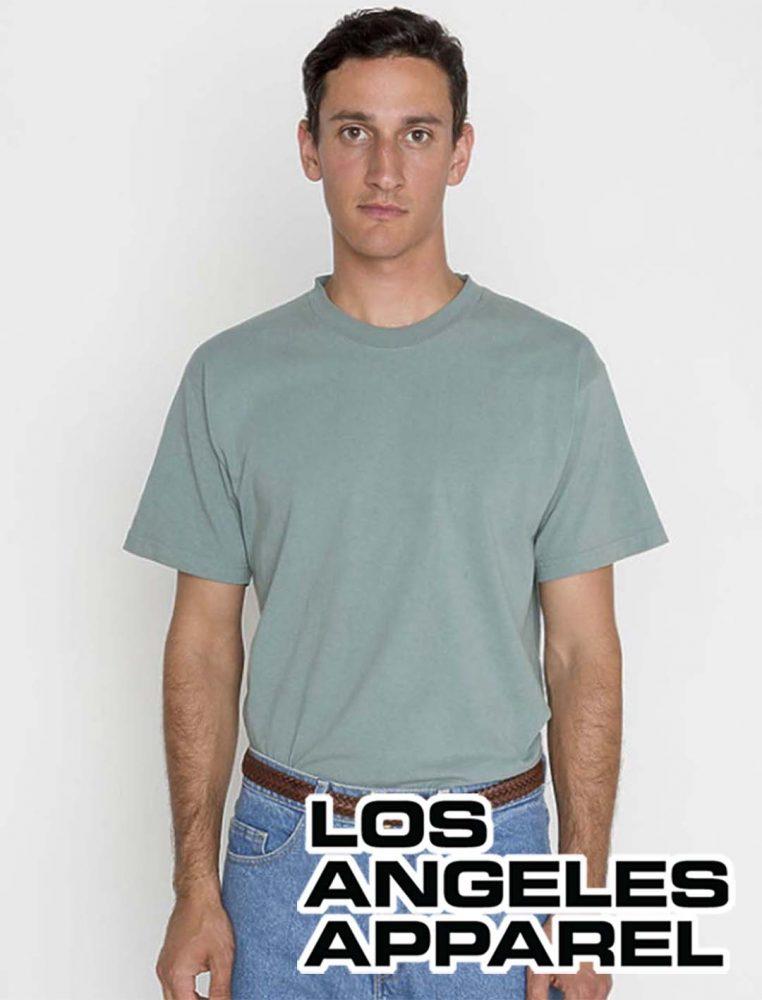 LA Apparel Garment Dyed T-shirt #1801GD