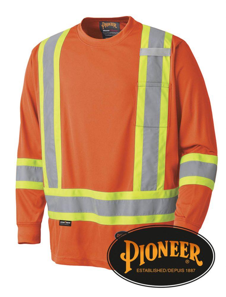 Pioneer Hi-Vis Long Sleeve Safety Shirt #P699